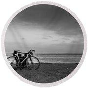 Bike Break Round Beach Towel