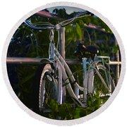 Bike Noir Round Beach Towel