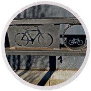 Bike Rack Round Beach Towel