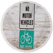 Bike Route Round Beach Towel