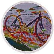 Bike Study Round Beach Towel