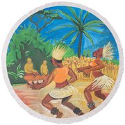 Bikutsi Dance 2 From Cameroon Round Beach Towel