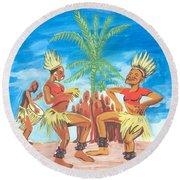 Bikutsi Dance 3 From Cameroon Round Beach Towel
