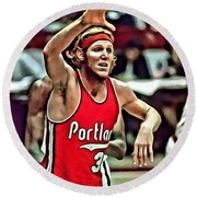 Bill Walton Round Beach Towel by Florian Rodarte