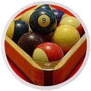Billiards - 9 Ball - Pool Table - Nine Ball Round Beach Towel