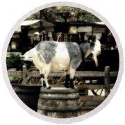 Billy Goat Big Thunder Ranch Frontierland Disneyland Round Beach Towel