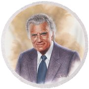 Billy Graham Evangelist Round Beach Towel