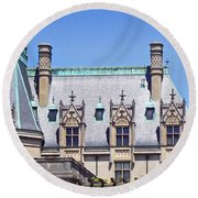 Biltmore House Roof Round Beach Towel