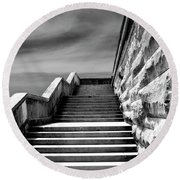 Biltmore Stairs Asheville Nc Round Beach Towel