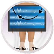 Biofeedback Therapy Round Beach Towel