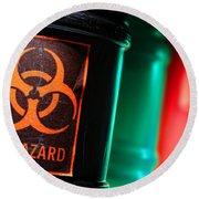 Biohazard Round Beach Towel