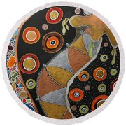 Biological Rhythms.. Round Beach Towel