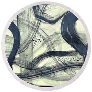Biological Rhythms Round Beach Towel