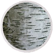 Birch Bark Round Beach Towel