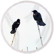 Bird Art Round Beach Towel