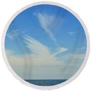 Bird Cloud Round Beach Towel