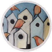 Bird Condo Association Round Beach Towel