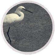 Bird In The Water Round Beach Towel