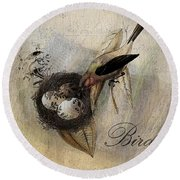 Bird Nest - Sp11ac02 Round Beach Towel
