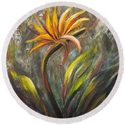 Bird Of Paradise 63 Round Beach Towel