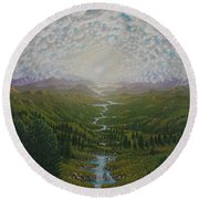 Bird View Round Beach Towel
