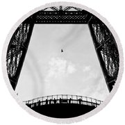 Birds-eye View Round Beach Towel by Dave Bowman
