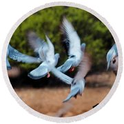 Birds In Flight 030515aa Round Beach Towel