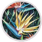 Birds Of Paradise  2   Sold Round Beach Towel
