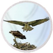 Birds Of Prey Round Beach Towel