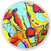 Birds On A Wire Round Beach Towel