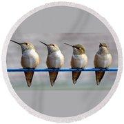 Birds On A Wire Round Beach Towel