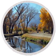 Bishop Creek Round Beach Towel