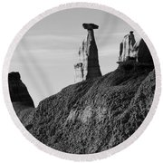 Bisti Land Form 1 Round Beach Towel