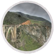 Bixby Bridge Round Beach Towel