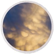 Bizarre Clouds Round Beach Towel by Michal Boubin