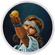 Bjorn Borg Round Beach Towel by Paul Meijering