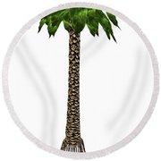 Bjuvia Simplex Prehistoric Tree Round Beach Towel