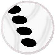 Black And White Art - 123 Round Beach Towel