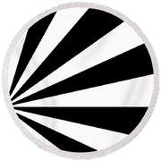 Black And White Art - 142 Round Beach Towel
