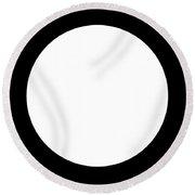 Black And White Art 164 Round Beach Towel