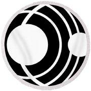 Black And White Art 170 Round Beach Towel