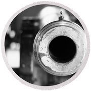 Black And White Cannon Round Beach Towel