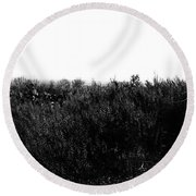 Black And White Magic V2 Round Beach Towel