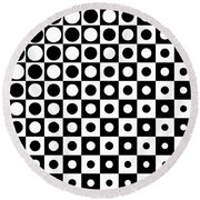 Black And White, No. 1 Round Beach Towel