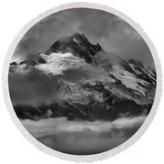 Black And White Tantalus Storms Round Beach Towel