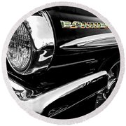 Black Bonneville Round Beach Towel