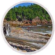 Black Brook In Cape Breton Highlands Np-ns Round Beach Towel