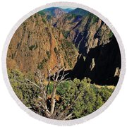 Black Canyon Round Beach Towel