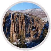 Black Canyon Butte Round Beach Towel