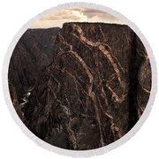 Black Canyon National Park In Colorado Round Beach Towel